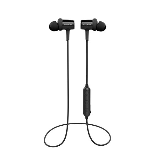 Bluetooth Earphones, BlitzWolf Sports Earbuds in-Ear, 8-Hour Playtime, Bluetooth 4.1, Sweatproof, Comfortable Bluetooth Wireless Headphone, Secure Fit for Running, Gym, (Best Bw Watch Phones)