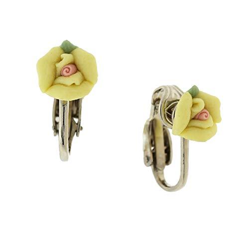 pink clip earrings - 3