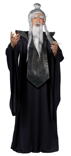 Fun World Men's Sensei Master Costume Black, Standard]()