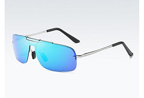 TL silver Lunettes Hommes Soleil Sunglasses avec Polarisées de qualité blue Homme Soleil Lunettes UV400 de Haute pour la rqHar8w