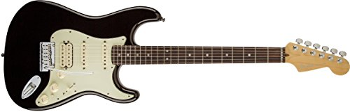 Fender American Deluxe HSS Stratocaster Electric Guitar, Rosewood Fingerboard - Black