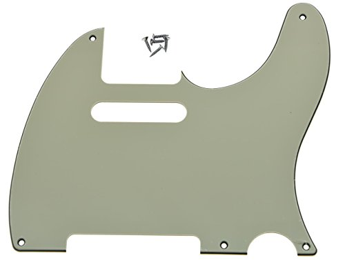 KAISH 5 Hole Vintage Tele Guitar Pickguard Scratch Plate fits USA/Mexican Fender Telecaster Aged White 3 Ply
