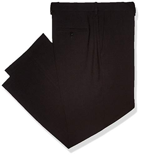 Haggar Men's Premium Comfort Classic Fit Flat Front Expandable Waist Pant, Charcoal, 34Wx30L