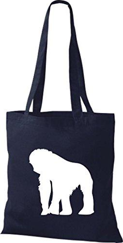 Krokodil - Bolso de tela de algodón para mujer azul - azul marino