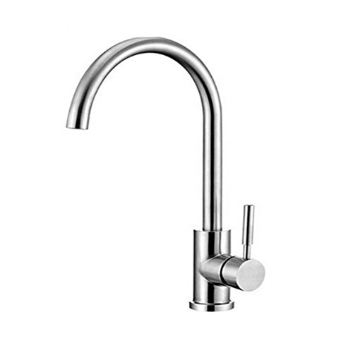 ZXYThe kitchen sink faucet stainless steel sink tap kitchen hot sink redation tap single hole tap mixing tap