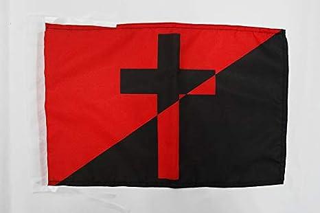 AZ FLAG Bandera del ANARQUISMO Cristiano 45x30cm - BANDERINA ANARCOCRISTIANISMO 30 x 45 cm cordeles: Amazon.es: Jardín