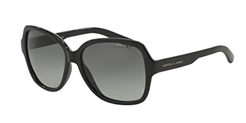 Armani Exchange AX 4029S Women's Sunglasses Black 57 & Cleaning Kit - Armani Giorgio Exchange Sunglasses