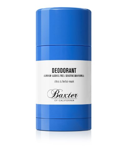 - Baxter of California Deodorant, Aluminum Free - Alcohol Free, Clear Stick, Citrus and Herbal-Musk, 2.65 oz