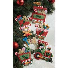 - Bucilla Felt Applique Ornament Kit, 86157 Candy Express(Set of 6)