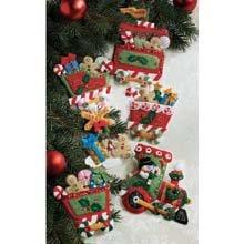 Needlepoint Candy (Bucilla Felt Applique Ornament Kit, 86157 Candy Express(Set of 6))
