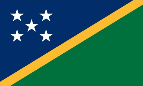 - America's Flag Company FF4X6NSOL1 4-Foot by 6-Foot Nylon Solomon Islands Flag