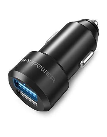 2c8ee987f5f RAVPower Cargador de Coche 24W 4.8A Dual USB Adaptador Automóvil con  Tecnología iSmart, Funda. #2