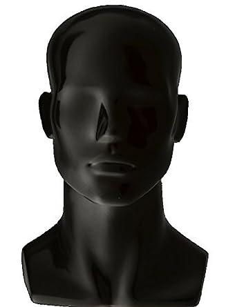 African American Adult Male Fiberglass Realistic Mannequin Display Head