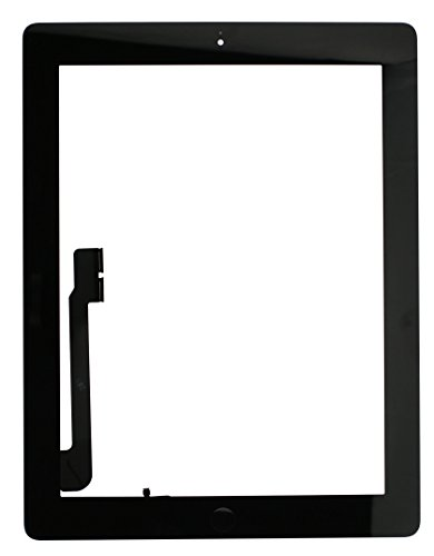 iPad 3 Screen Replacement Glass Touch Digitizer Premium Repair Kit with Tools and Home Button by RepairPartsPlus (Black) by RepairPartsPlus (Image #1)