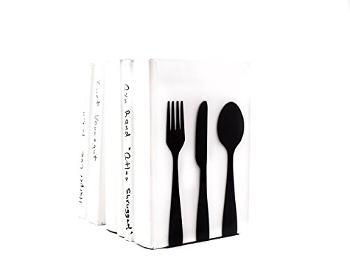 kitchen-bookends-silverware-made-out-of-metal-black-modern-kitchen-shelf-decor-cookbook-book-holders