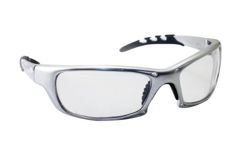 SAS Safety 542-0200 GTR Eyewear with Polybag, Clear Lens/Silver - 1 2015 Ansi Z87