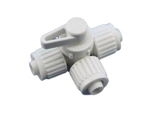 (Flair-It 16914 Plastic 180 Degree Center Drain Valve, 0.5