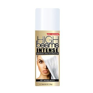 High Beams Intense Temporary Spray-On Hair Color - Wicked White 2.7 oz (6 pack)