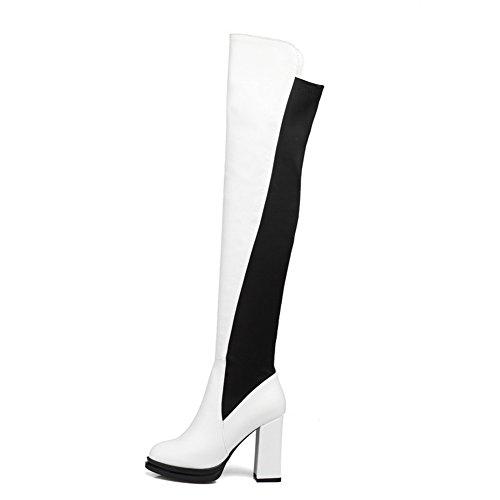 Eu Femme Blanc 38 Sandales 5 Abl09796 Balamasa Compensées qtg0a