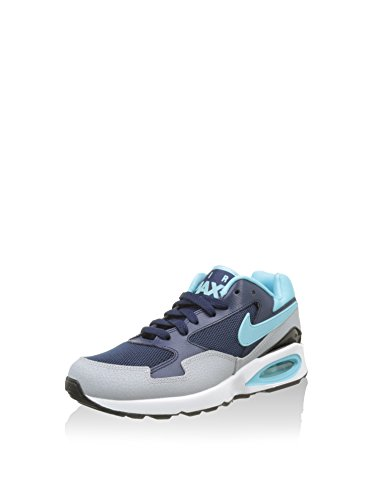 Nike Wmns Air Max St, Zapatillas de Deporte para Mujer Azul Marino (Mid Navy / Td Pl Bl-Wlf Gry-Blk)