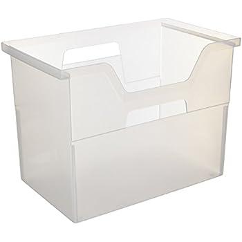 IRIS Desktop File Box, Large, Clear