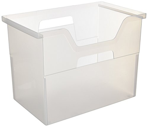 IRIS Desktop File Box, Large, Clear - Iris Living Room Table
