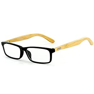 "Aloha Eyewear Unisex ""Zen Temple"" Eco-Chic Retro Square Reading Glasses (Black +1.00)"