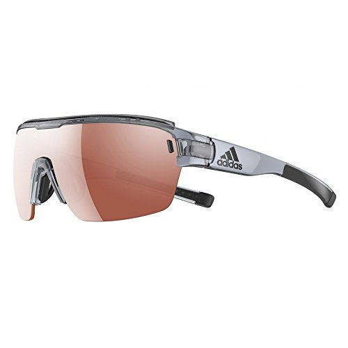 - adidas Zonyk Aero Pro S Shield Sunglasses, Grey Shiny, 68 mm