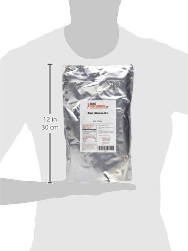 BulkSupplements Pure Zinc Gluconate Powder (500 grams)