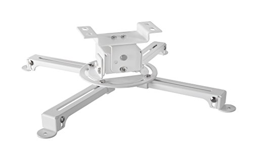 celexon Universal Projector Ceiling Mount Bracket MultiCel 1000 Pro white, 4'' below the ceiling, maximum load of 33 lbs by Celexon