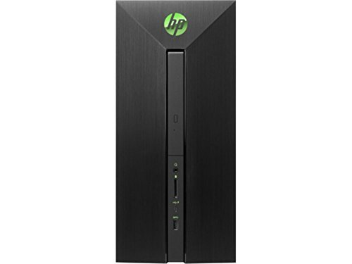 HP Pavilion 580 High Performance Power Desktop PC (Intel i7 quad core, 12GB RAM, 2TB HDD, NVIDIA GeForce GTX 1060, WiFi, Bluetooth, Win 10) Black with Acid Green by MichaelElectronics2 (Image #3)