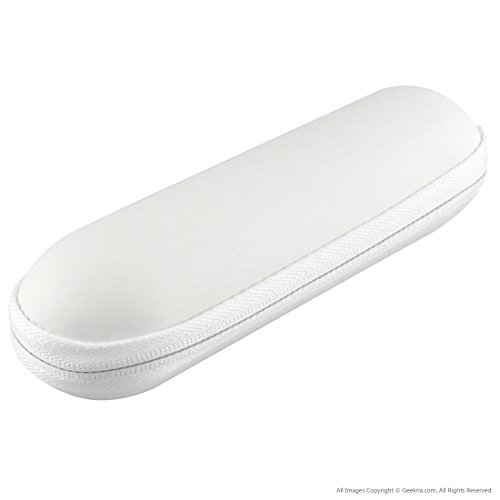 Beats by Dr. Dre Pill 1.0/2.0 Bluetooth Wireless Portable Speaker Replacement Hard Carrying Case/Travel Bag (White)
