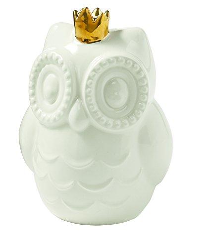 Mud Pie Ceramic Owl Piggy Bank, White (Mud Pie Girls Banks compare prices)