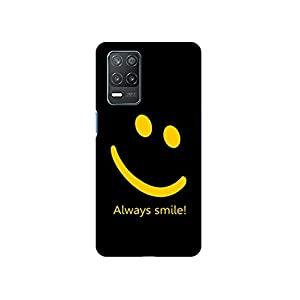 Casotec Always Smile Quote Design 3D Printed Hard Back Case Cover for Realme 8 5G