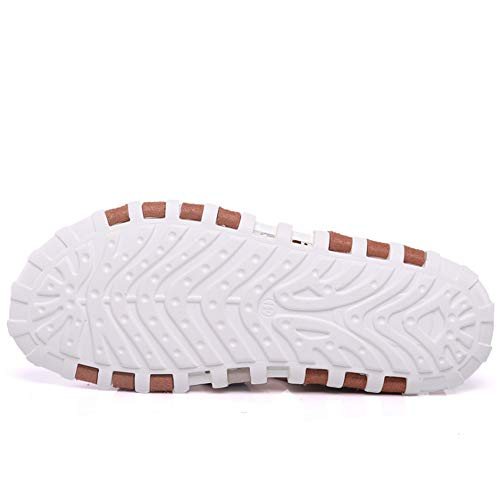 24 3 Hombres 2 0 Libre para 38 Transpirables Color Antideslizante Aire EU De CM Zapatos Marrón 0 tamaño Sandalia 27 Marrón Sandalias De Cuero Playa Al OBAqqg