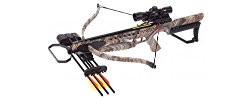 CenterPoint TYRO AXRT175CK4X Recurve Crossbow 245 FPS with 4x32mm Scope, RCD