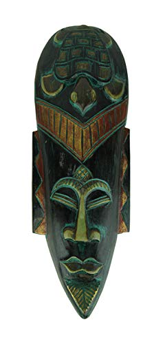 - Things2Die4 Hand Carved 20 Inch Indonesian Jenggot Sea Turtle Wall Mask
