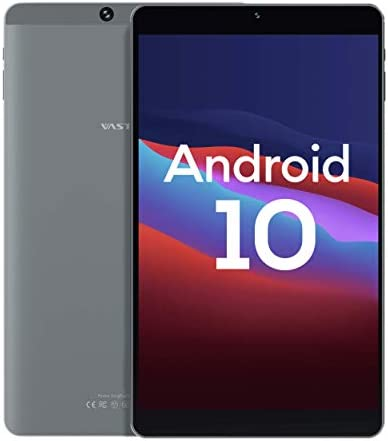 Android 10, 8-inch Android Tablet, Vastking Kingpad SA8 Octa-Core Processor, 3GB RAM, 32GB Storage, 1920x1200 IPS, 5G Wi-Fi, GPS, 13MP Camera, Blue Light Filter Screen, Silver Grey