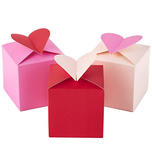 Hallmark Paper Wonder Small Valentines Gift Boxes (Hearts, Pack of 3)