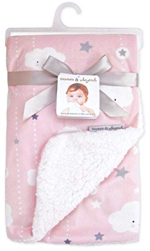 Blankets & Beyond Clouds and Stars Pink Baby - Beyond Bedding