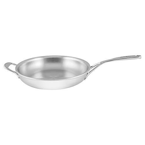 """Demeyere 25628 Atlantis 7-Ply Stainless Steel Fry Pan with Helper Handle, 11"""""""