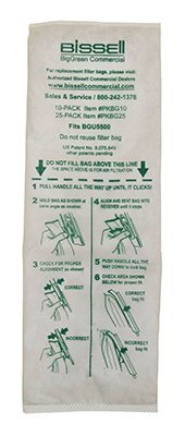 Bissell Commercial 10 Pk Vacuum Bags for BGU5500 by Bissell Commercial