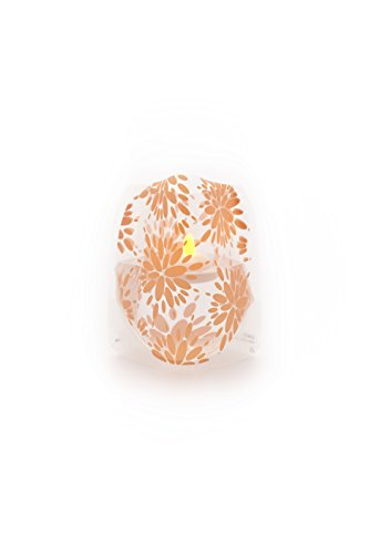 Lila Peach Lumizu Luminaries Four Pack Floating LED Candles with Batteries Inlcuded - Luminary Lanterns - Wedding, Party, Patio by Modgy