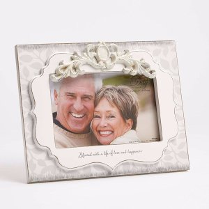 """Enesco This is the Day by Gregg Gift 40th Anniversary Scroll Detail Whitewash Photo Frame, 4x6"""" by Enesco Faith & Grace by Gregg Gift"""