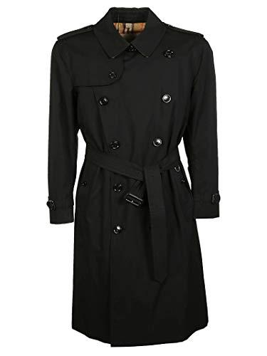 BURBERRY Men's 4073485 Black Cotton Trench Coat Burberry Trench Coat Men