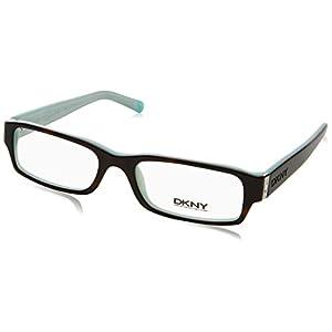 DKNY DY 4585B Eyeglasses Styles Havana-Azure Frame w/Non-Rx 50 mm Diameter Lenses, 3388-5017, DKNY