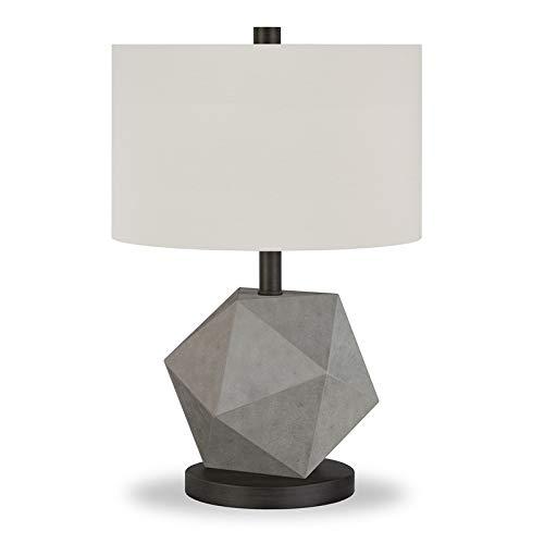 Henn&Hart Concrete Geometric Lamp, One Size (Table Concrete Lamp)