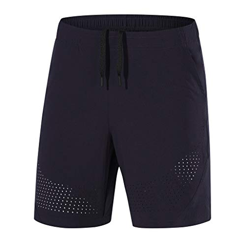 MIS1950s Mens Workout Shorts Elastic Waist Drawstring Summer Casual Fast-dryin Short Pants Plus Size