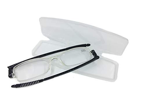 Foldable Reading Glasses for Women and Men Compact Computer Reading Glasses with Transparent Case Folding Readers Best ()