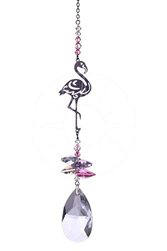 56fd62f4e Wild Things Swarovski Crystal Fantasy Hanging Cascade Suncatcher/Rainbow  Maker + 38mm Almond - FLAMINGO Motif: Amazon.co.uk: Kitchen & Home